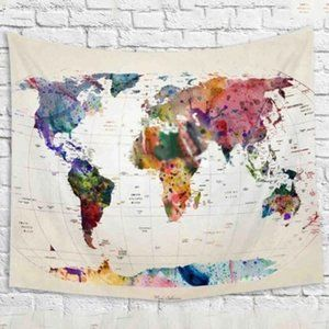 Other - NWT World Map Tapestry - Large